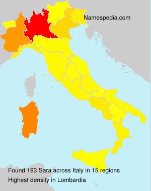 Familiennamen Sara - Italy