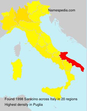 Familiennamen Saracino - Italy