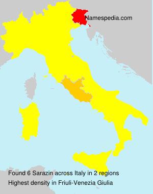 Surname Sarazin in Italy