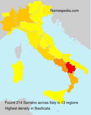 Surname Satriano in Italy