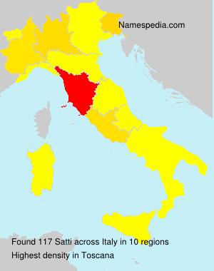 Surname Satti in Italy