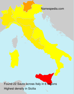 Surname Sauto in Italy