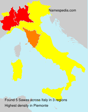Surname Sawas in Italy