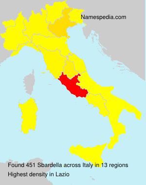 Familiennamen Sbardella - Italy