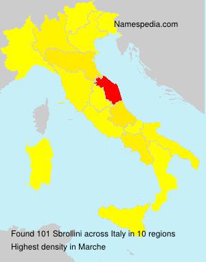 Surname Sbrollini in Italy
