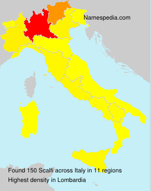 Surname Scalfi in Italy