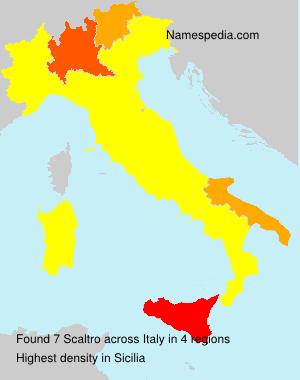 Familiennamen Scaltro - Italy