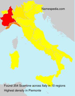 Familiennamen Scarrone - Italy