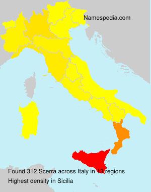 Familiennamen Scerra - Italy