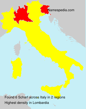 Surname Scharf in Italy