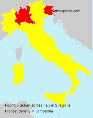 Familiennamen Scharf - Italy