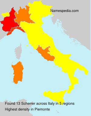 Surname Scherrer in Italy