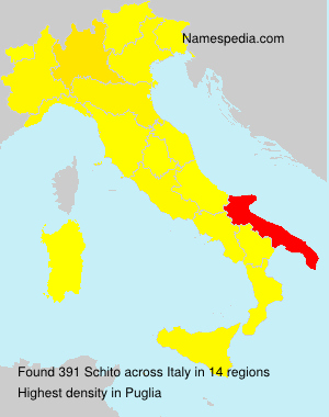 Surname Schito in Italy