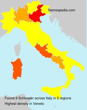Surname Schlosser in Italy