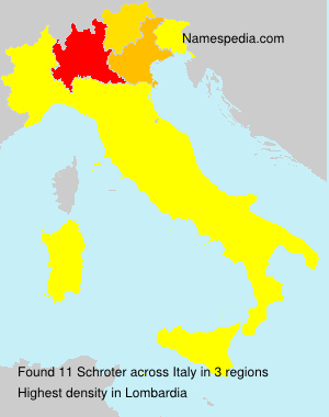 Surname Schroter in Italy