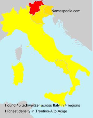 Surname Schweitzer in Italy