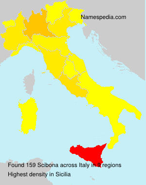 Familiennamen Scibona - Italy