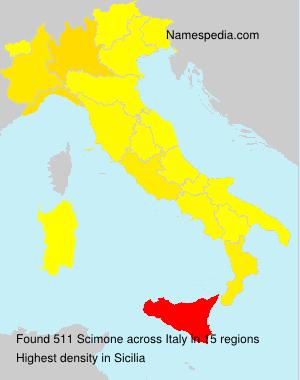 Surname Scimone in Italy