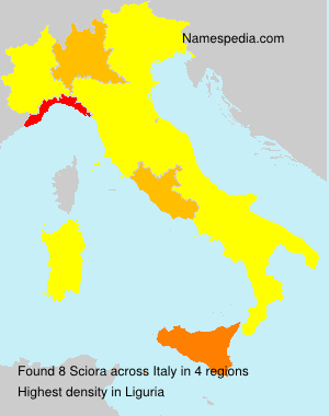 Familiennamen Sciora - Italy