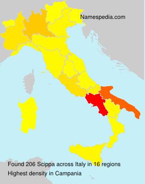 Familiennamen Scippa - Italy