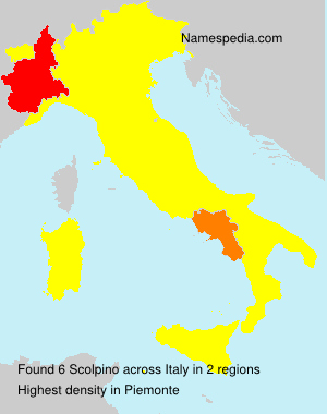 Surname Scolpino in Italy