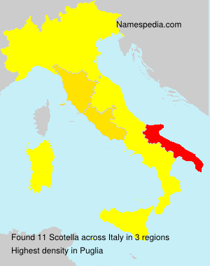 Familiennamen Scotella - Italy