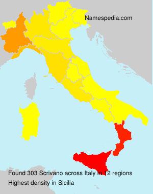 Surname Scrivano in Italy