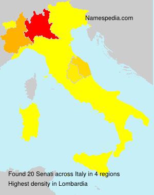 Familiennamen Senati - Italy