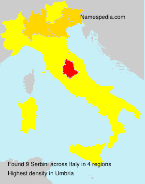 Surname Serbini in Italy