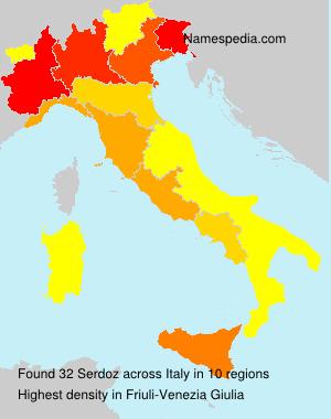 Surname Serdoz in Italy