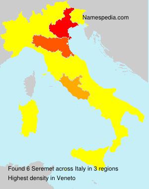 Surname Seremet in Italy