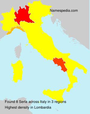 Surname Serla in Italy