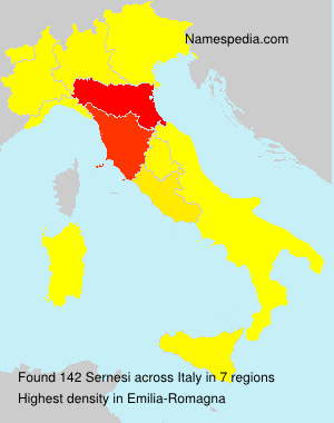 Surname Sernesi in Italy