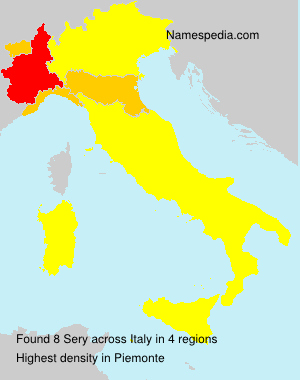 Surname Sery in Italy