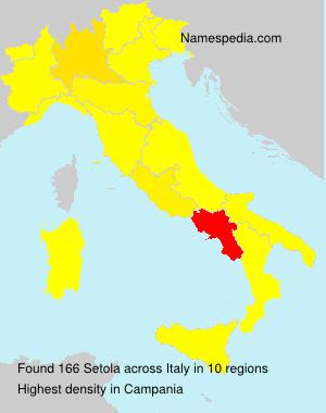 Surname Setola in Italy