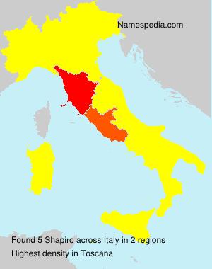 Surname Shapiro in Italy