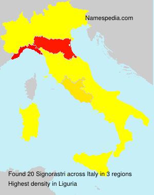 Surname Signorastri in Italy