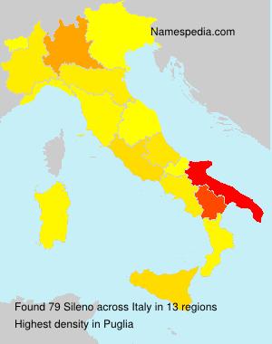 Surname Sileno in Italy