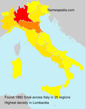 Surname Silva in Italy