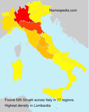 Familiennamen Silvani - Italy