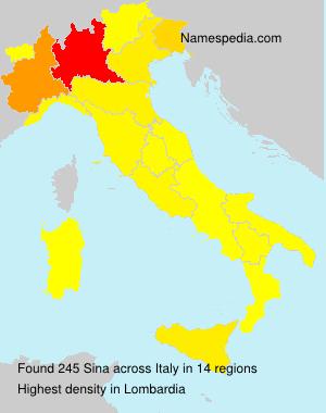 Surname Sina in Italy