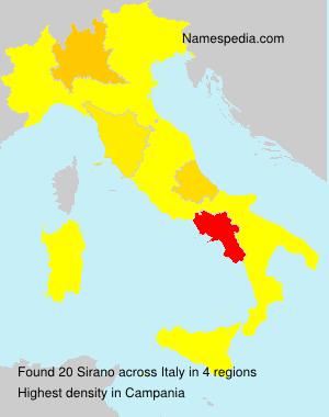 Familiennamen Sirano - Italy