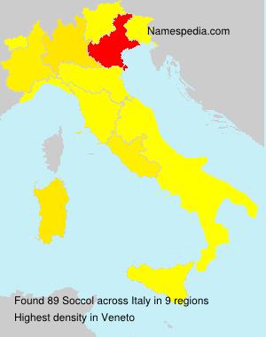 Familiennamen Soccol - Italy