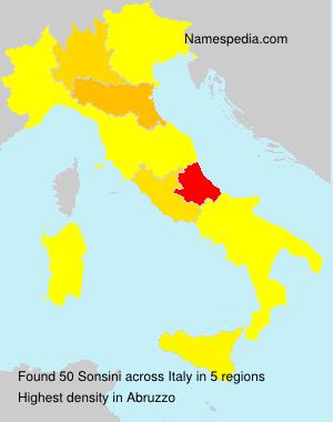 Surname Sonsini in Italy