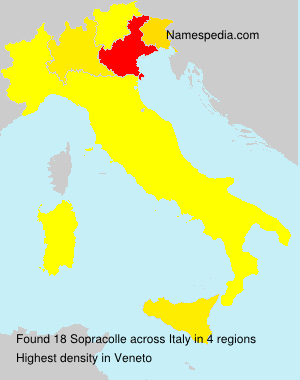Surname Sopracolle in Italy