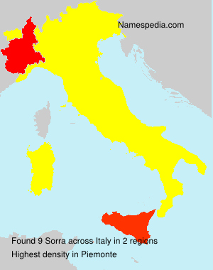 Familiennamen Sorra - Italy