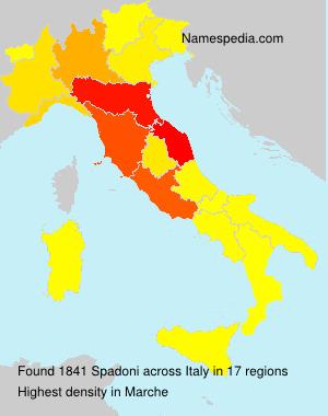 Surname Spadoni in Italy
