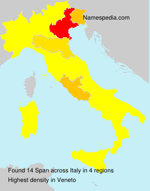 Surname Span in Italy