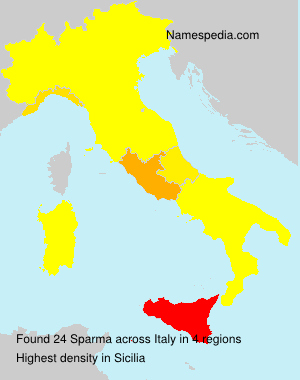 Surname Sparma in Italy