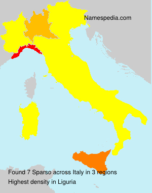 Surname Sparso in Italy